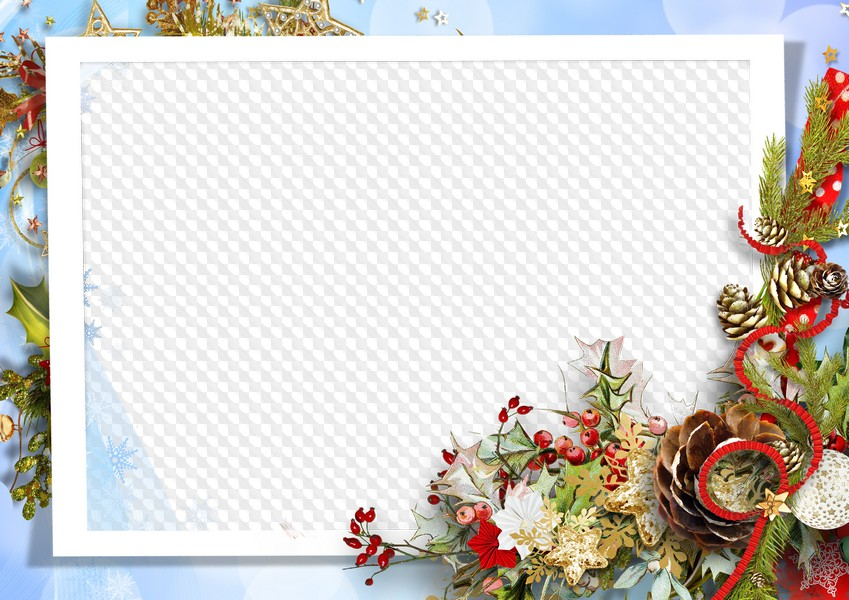 Winter frame for Photoshop. Transparent PNG Frame, PSD Layered Photo ...