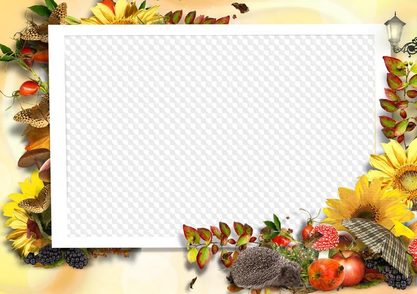 Adios otoño marco de fotos. Marco PNG transparente, PSD Plantilla ...