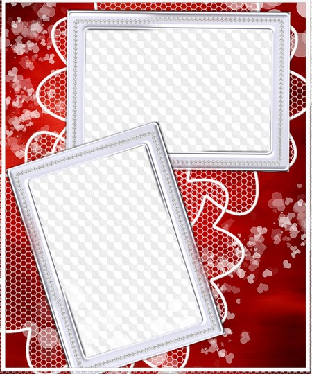 Red photo frame PSD, PNG. Transparent PNG Frame, PSD Layered Photo ...