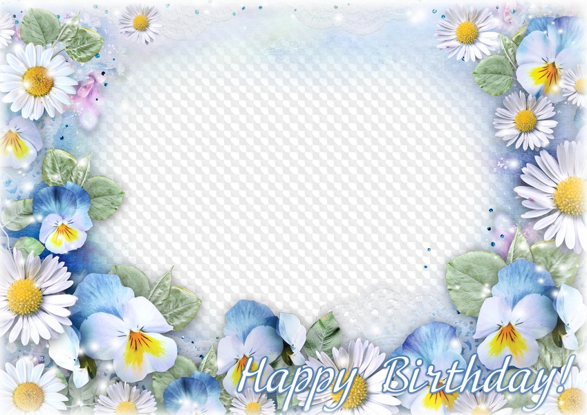 Happy Birthday Photoshop frame psd template free download