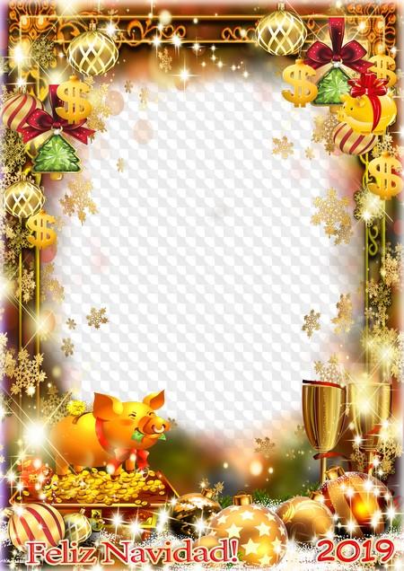 Inicio Feliz Navidad.Feliz Navidad Marco De Fotos 2019 Psd Png Marco Png