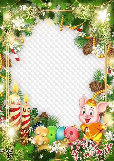 Inicio Feliz Navidad.Feliz Navidad Plantilla De Marco De Foto Png Psd Marco