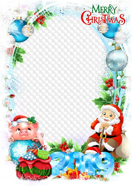 Mery Christmas 2019 Mery Christmas photo frame PSD, PNG, 2019. Transparent PNG Frame