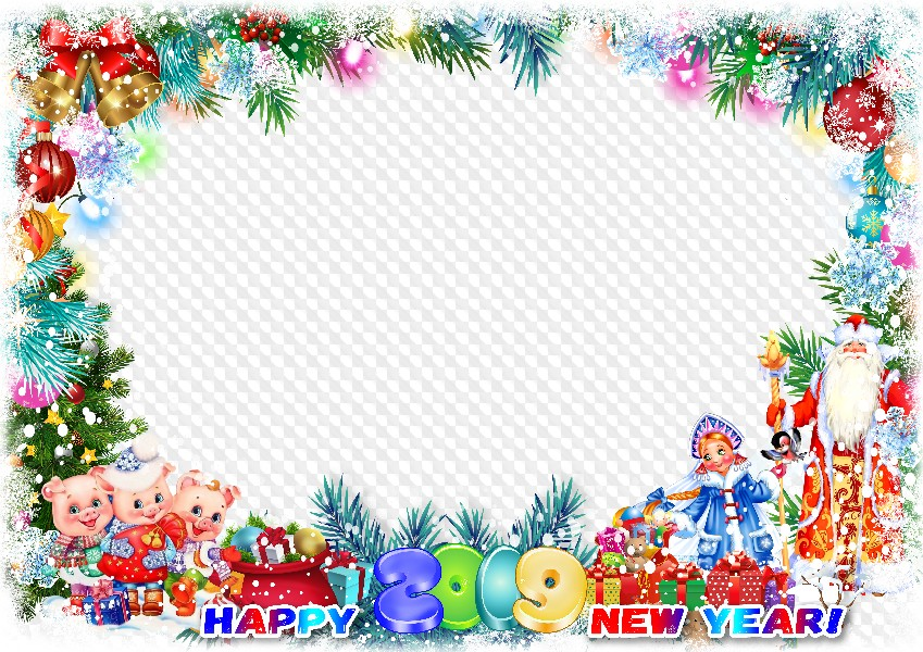 2019 Happy New Year Photo Frame Template Transparent Png Frame