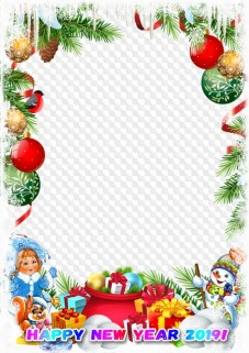 happy new year 2019 frame psd png photo frame template