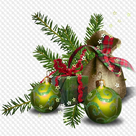 Christmas Branch Png.25 Png Christmas And New Years Gifts In Fir Branches Png On