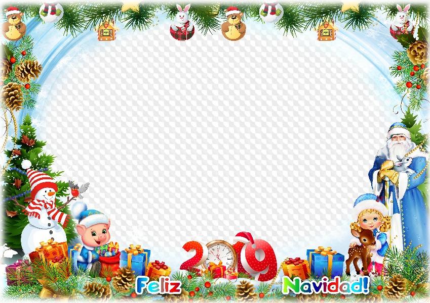 Inicio Feliz Navidad.2019 Feliz Navidad Plantilla De Marco De Foto Marco Png