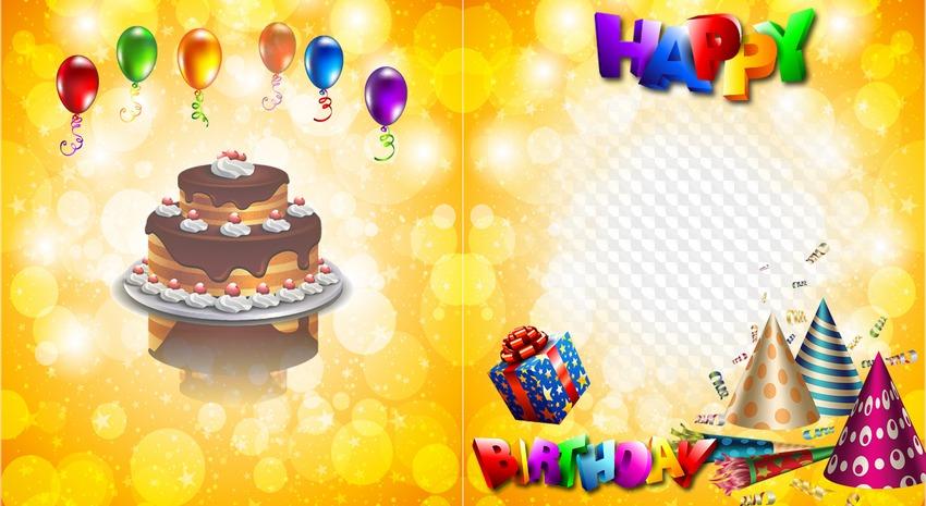 Children Photo Book Psd Happy Birthday Free Download Transparent