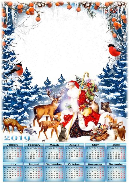 Calendario Bosque Magico 2019.Papa Noel En El Bosque Magico Calendario 2019 Ingles