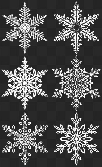 Forty Png Snowflakes Snowfall On Transparent Background Snowfall