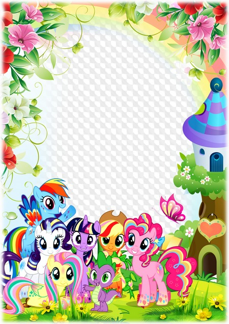 My Little Pony Photo Frame Transparent Png Frame Psd Layered