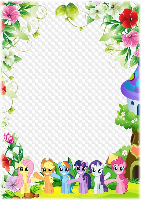 My Little Pony Photo Frame Template Transparent Png Frame Psd