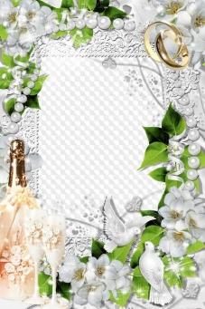 Wedding frames, photo frames, PNG, PSD,   Free download