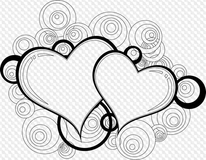 сердечки картинки красивые шаблоны черно белые очередной
