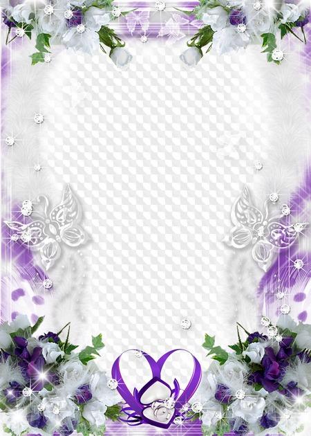 Рамка для открытки фиолетовая