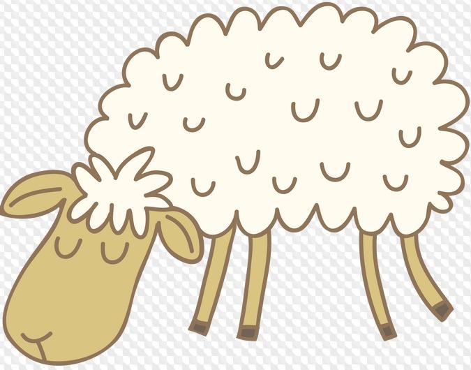 Люблю, картинка овечки для детей на прозрачном фоне