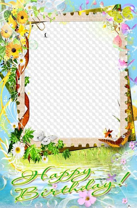 Flower Frame For Photos