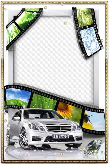 Шаблон автомобиль для открытки с днем рождения