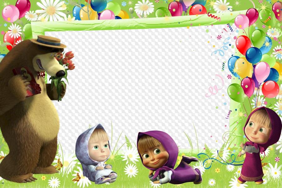 Детские открытки с машей и медведем