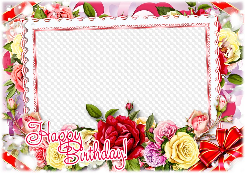 Main Free Photo Frames Birthday Hy Frame With Flowers Psd Template Png