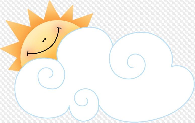 желаю картинка облачко с солнышком на прозрачном фоне специальная