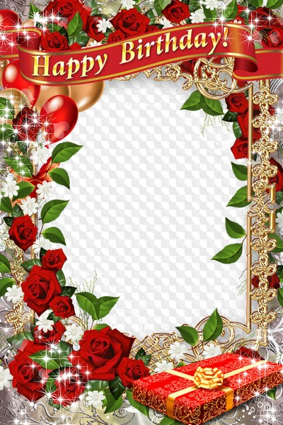 Happy Birthday Greeting frame PSD - Let happiness, joy and love, all the life