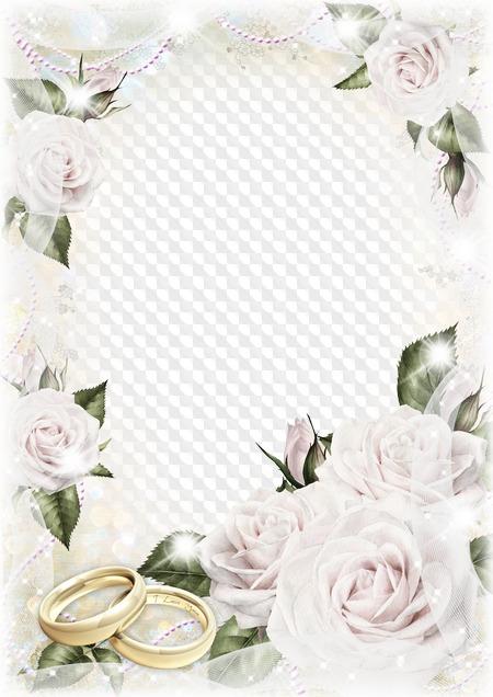 рамка для открытки на свадьбу вертикальная