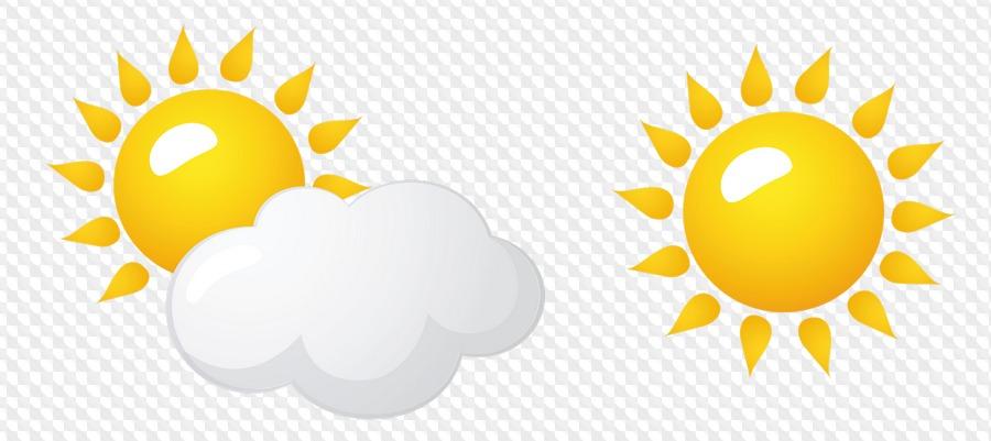 Солнце и облака на прозрачном фоне картинки