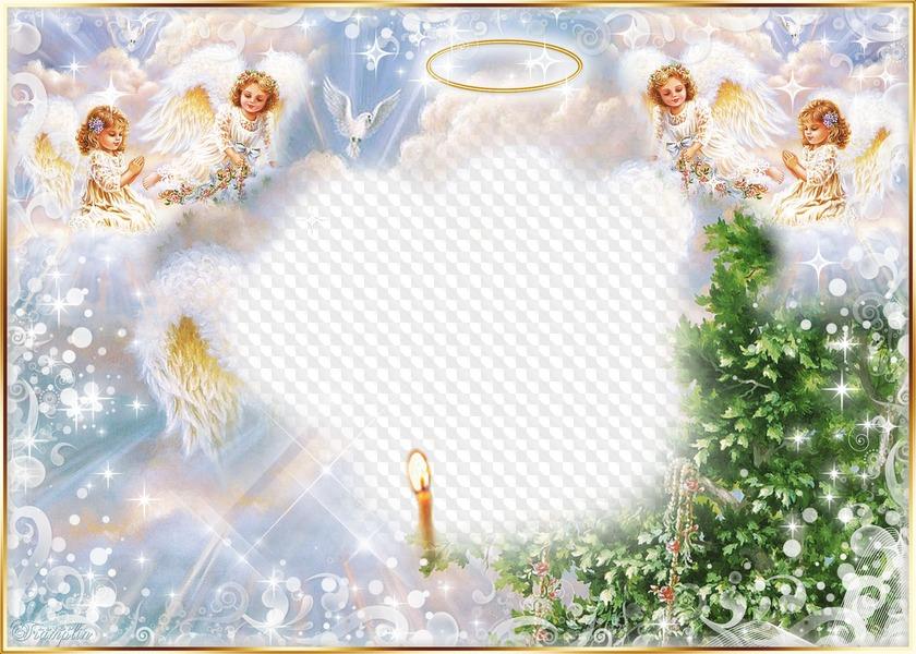 вставить фото в рамки с ангелами супруга питали искренние