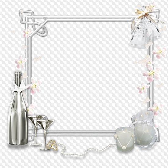 Nine Png Wedding Frames Clipart On Transparent Background