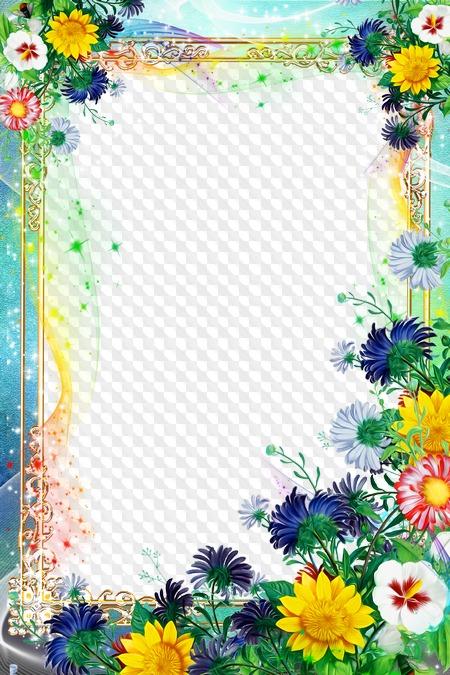 Рамки летние для открытки с днем рождения, днем