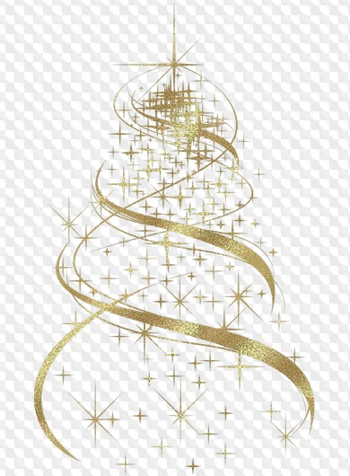Free Clipart Png For Photoshop Gold And Silver Christmas Fir Tree Png