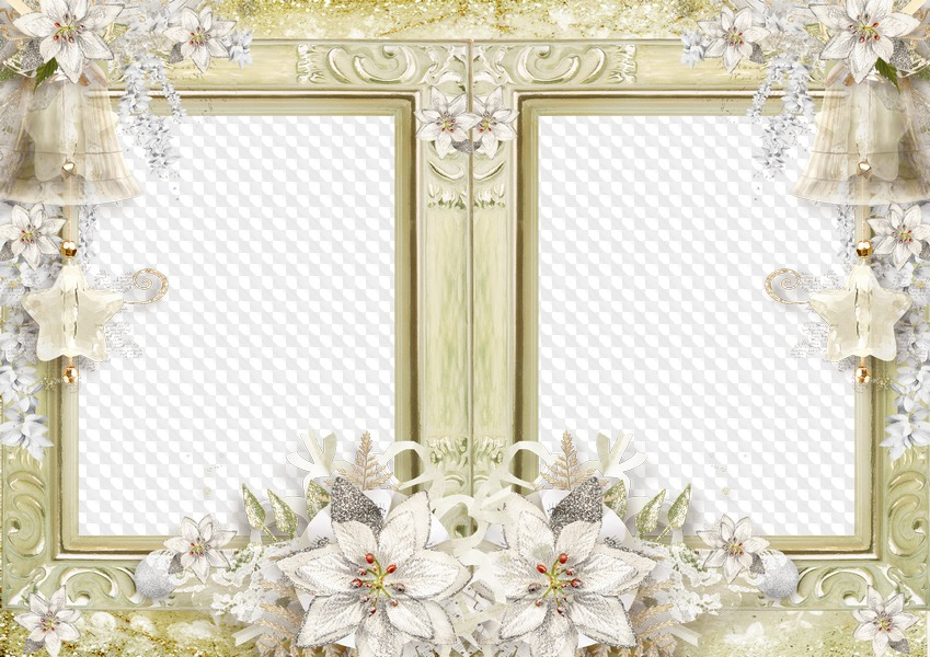 Free Wedding Frame Psd With White Flowers Free Download Transparent Png Frame Psd Layered Photo Frame Template Download