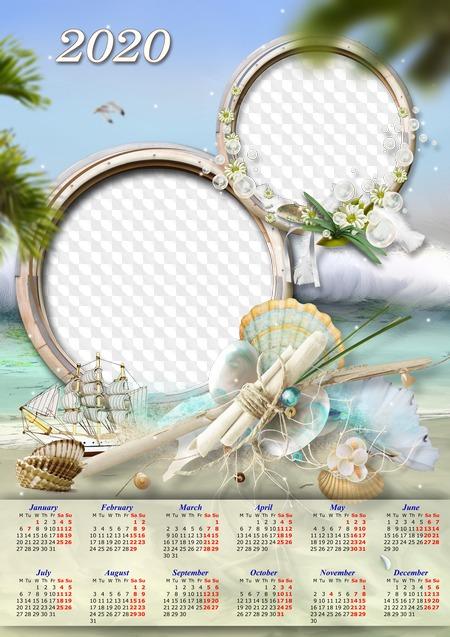 Calendar 2020 Psd Calendar template for 2020, PSD, PNG, for Photoshop. Calendar for