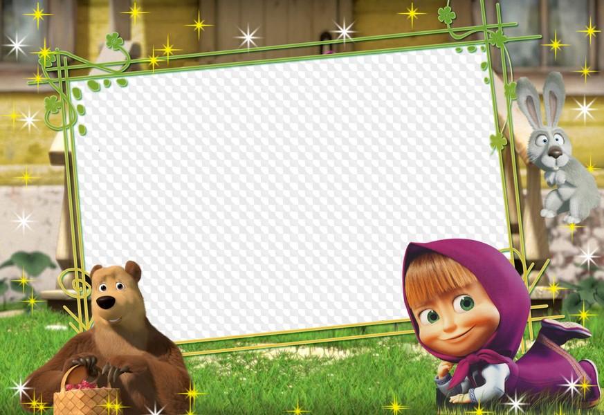 такую записулю вставить фото в рамку маша и медведь друзьям размести