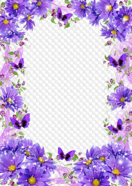 Рамка для открытки фиолетовая, картинки