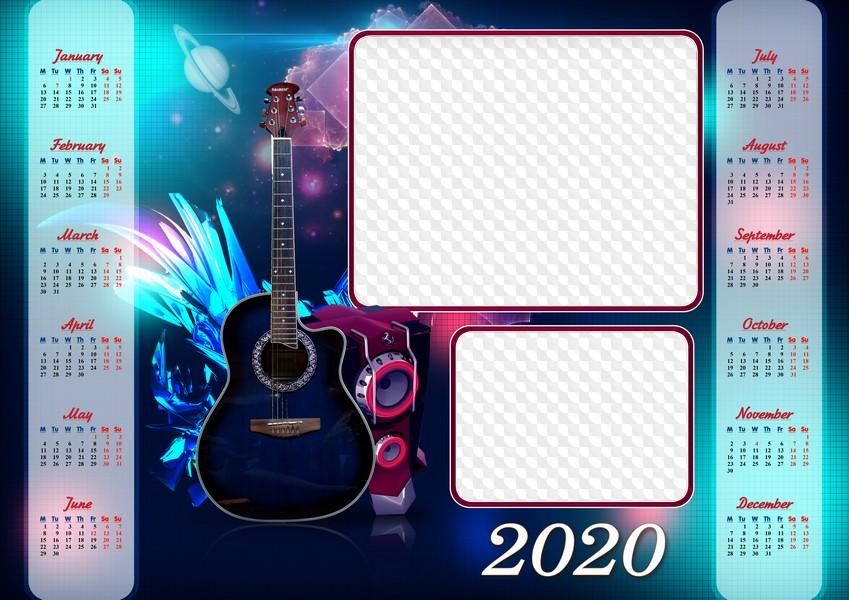 Agencia Tributaria Calendario 2020.Plantilla Calendario 2020 Photoshop