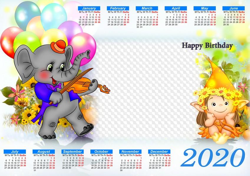 Шаблоны открыток календарей