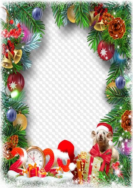 Christmas 2020 Frame Christmas photo frame, Christmas 2020. Transparent PNG Frame, PSD