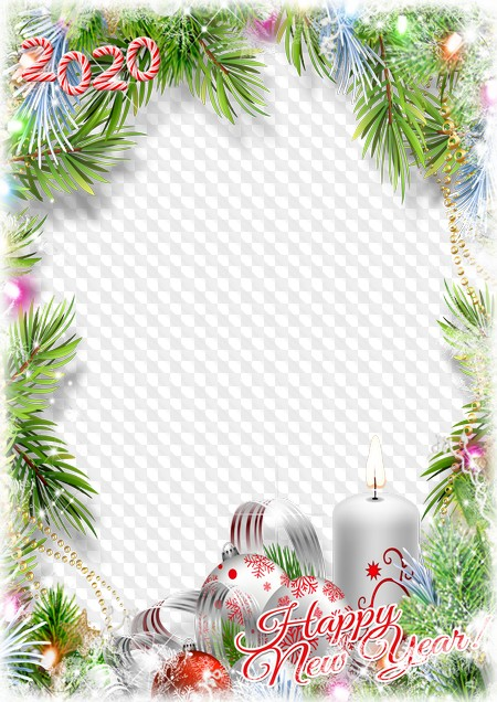 Happy New Year 2020 Photo Frame Merry Christmas 2020