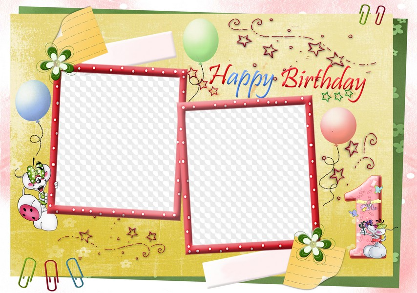 Png Frame For The Baby Photo Happy Birthday Free Download
