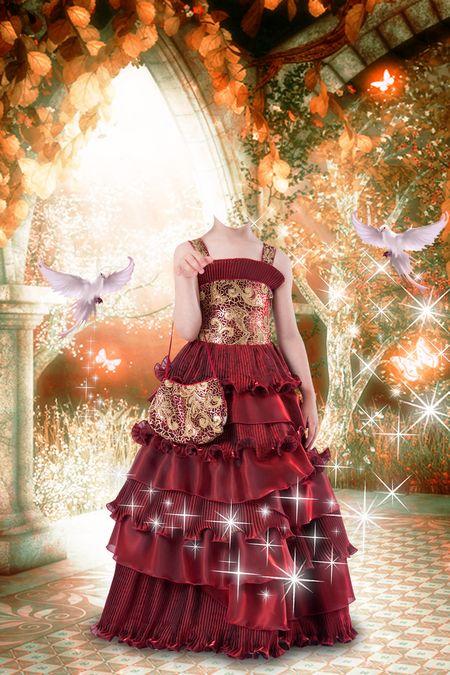 фотомонтаж как соединить платье и голову закладки для книг