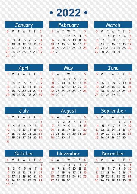 2022 2023 Calendar.2022 Year Calendar Calendar Grids In Png Cdr Psd File Free Template Download