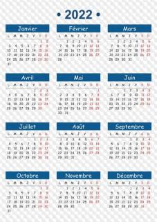 Calendrier 2022 Png Calendrier 2022 en PSD, PNG, CDR, PDF, DOC, DOCX, XLS, XLSX et