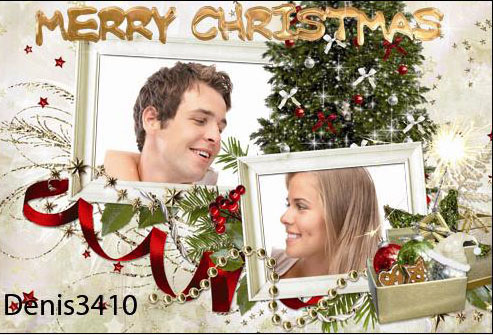 Photo Frame - Love in the New Year holidays