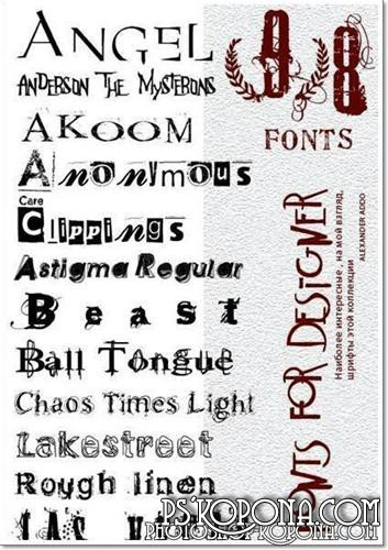 Distorted Collection fonts from Elected Art
