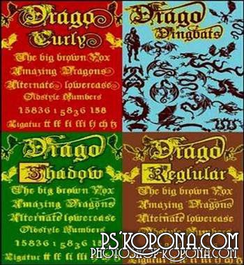 Drago Fonts Collection