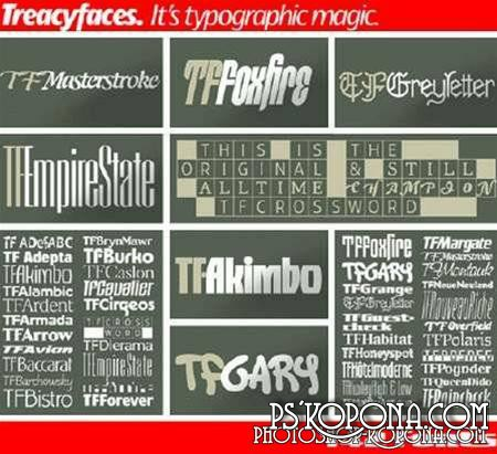 Treacyfaces Fonts Pack
