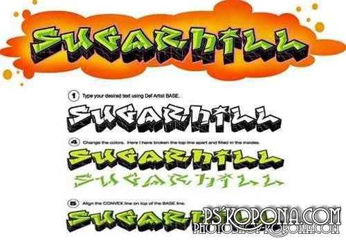 350 Graffiti Fonts Pack