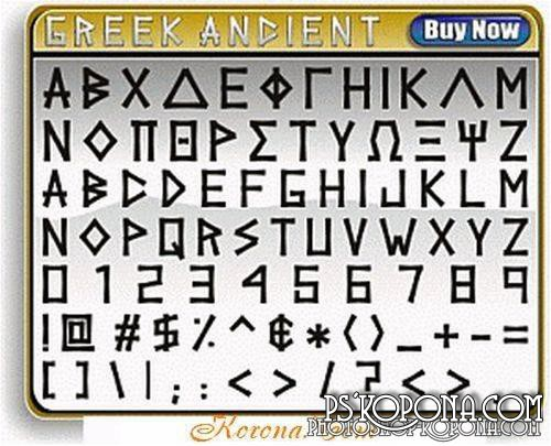 1000 greek fonts